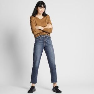 Uniqlo High Rise Regular Straight Jeans
